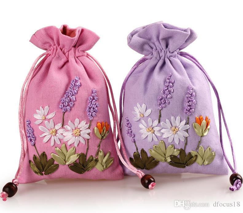 11x17cm Hand Made Jewelry Pouch Wedding Drawstring Holder Bag Cotton Gift Bags for DIY Craft Party Favors