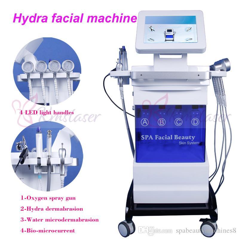 Hydra Dermabrasion machine 8 In1 avec ultrasons RF BIO microdermabrasion de l'oxygène de micocurrent Microdermabrasion eau Dermabrasion resserrement de la peau du visage