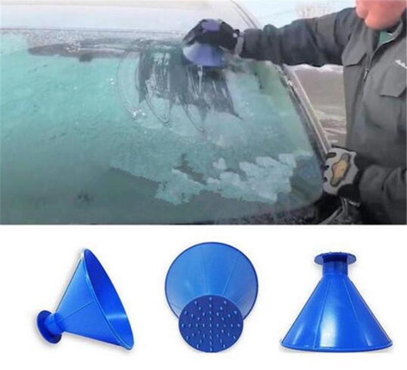 Nuovo servizio di pulizie Magic Window parabrezza Raschiaghiaccio cono imbuto Neve di rimozione di sbarcare il tondo