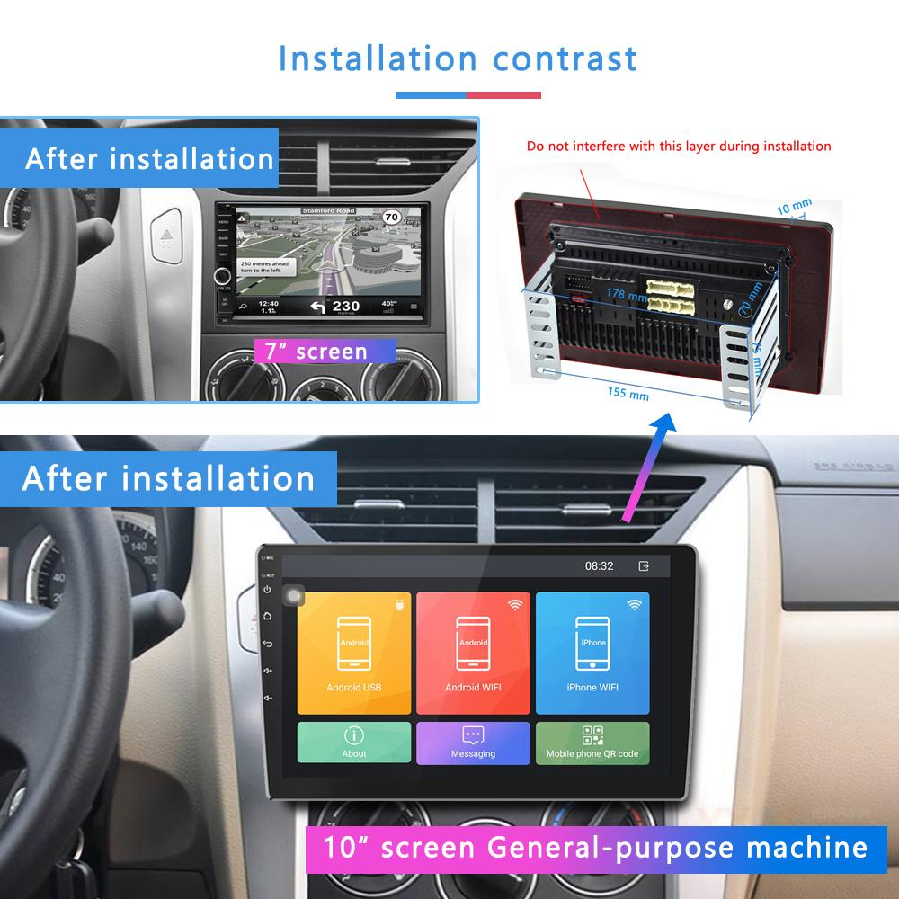 AMPrime 2din Car Radio 10 1 Android Car Multimedia Player GPS WIFi  Autoradio Bluetooth Mirrorlink Tape Recorder RearView Stereo Auto Stereo  Stores
