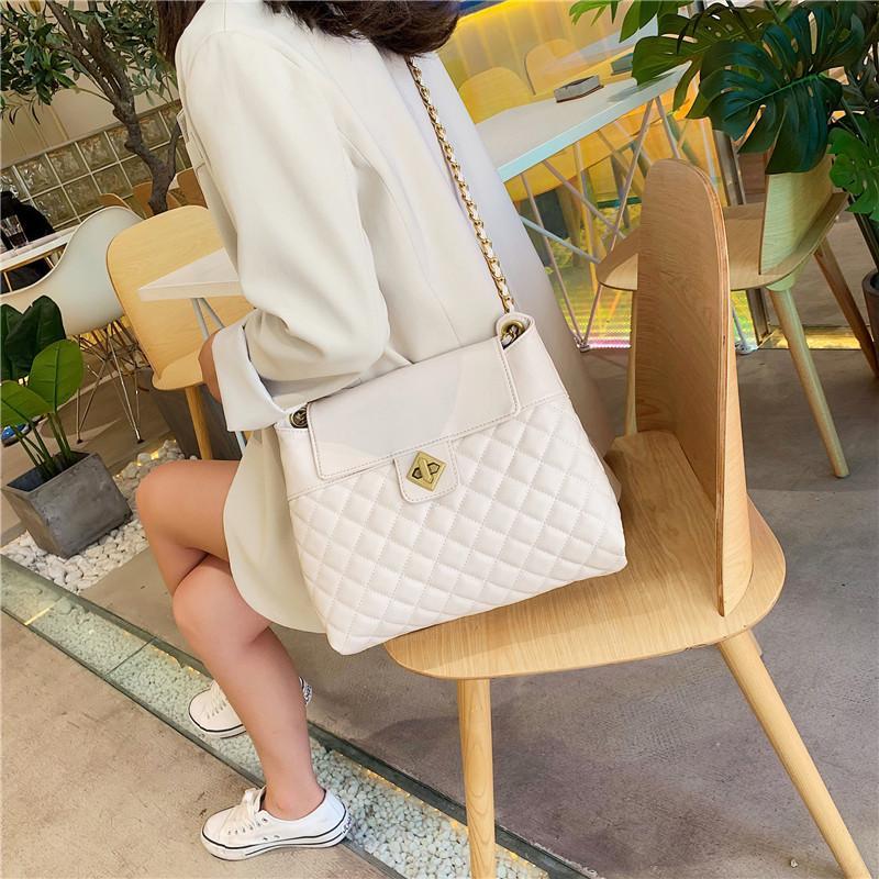 캐주얼 체인 핸드백 여성 디자이너 가방 빈티지 빅 사이즈 토트 숄더백 높은 품질 bolsos Lingge 디자이너 - 여성 메신저 가방