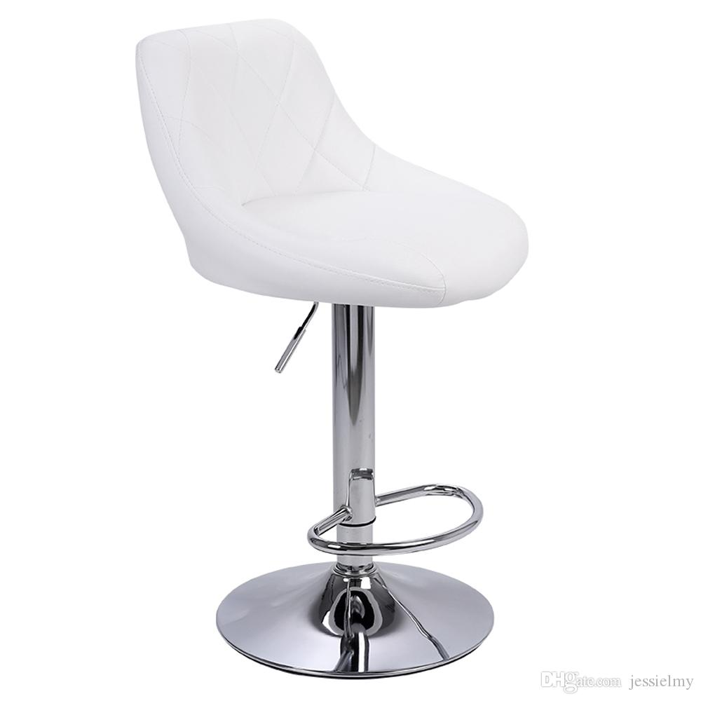 Cool 2019 Modern Bar Stool Chair Adjustable High Type With Disk Rhombus Backrest Design Bar Stools No Armrest Dining Counter Bar Pub Chairs White From Gmtry Best Dining Table And Chair Ideas Images Gmtryco