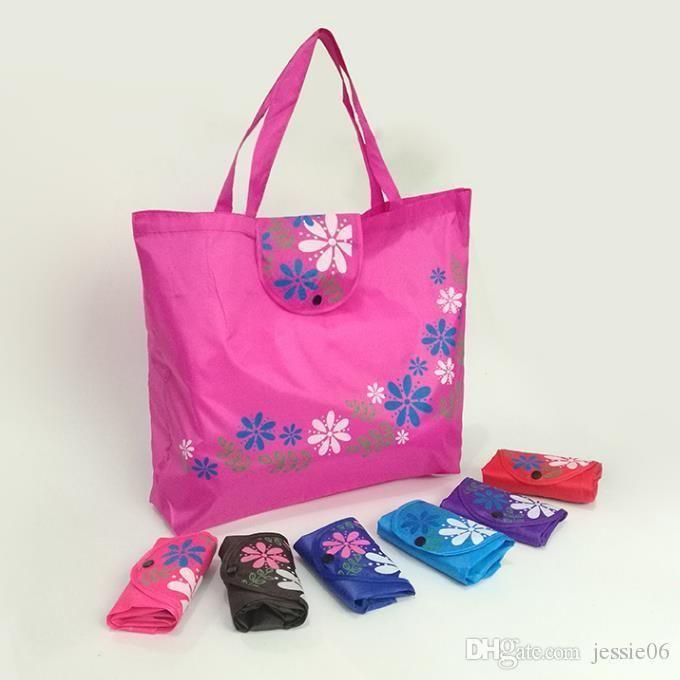Oxford tissu imprimé sacs d'organisation de stockage de fleurs de bacs se replient sac pliable sac écologique achats sac 45 * 35cm COLORÉ