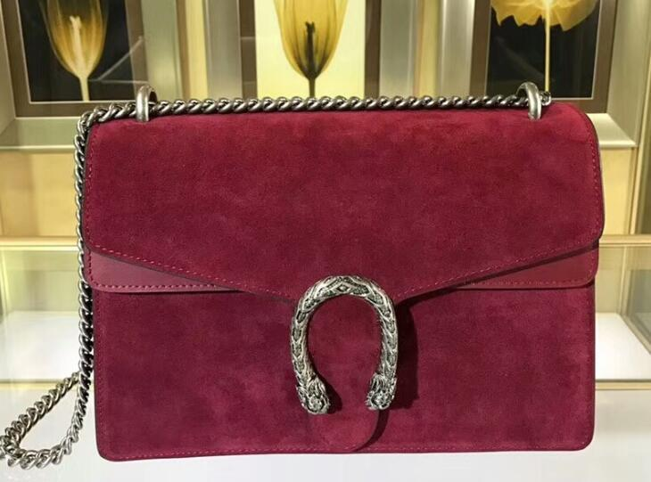 Top quality 400249 28cm 403348 30cm Dionysuss Suede Leather Shoulder bag,Antique Silver-Toned Hardware,Suede Lining,Come with Dust Bag Box
