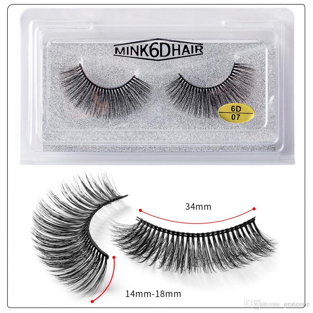 Dropshippping 1 par = 1 set 6d cílios falsos naturais grossos encaracolados encaracolados olho cílios wispy maquiagem ferramentas de extensão de beleza artesanal 3d mark lashe