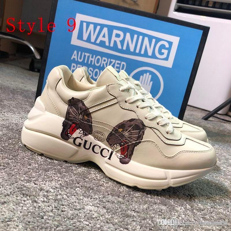 2020 femmes en gros et la plate-forme chaussures pour hommes imprimer mode Basketball Casual cuir Chaussures Sneakers Baskets Avec de haute qualité