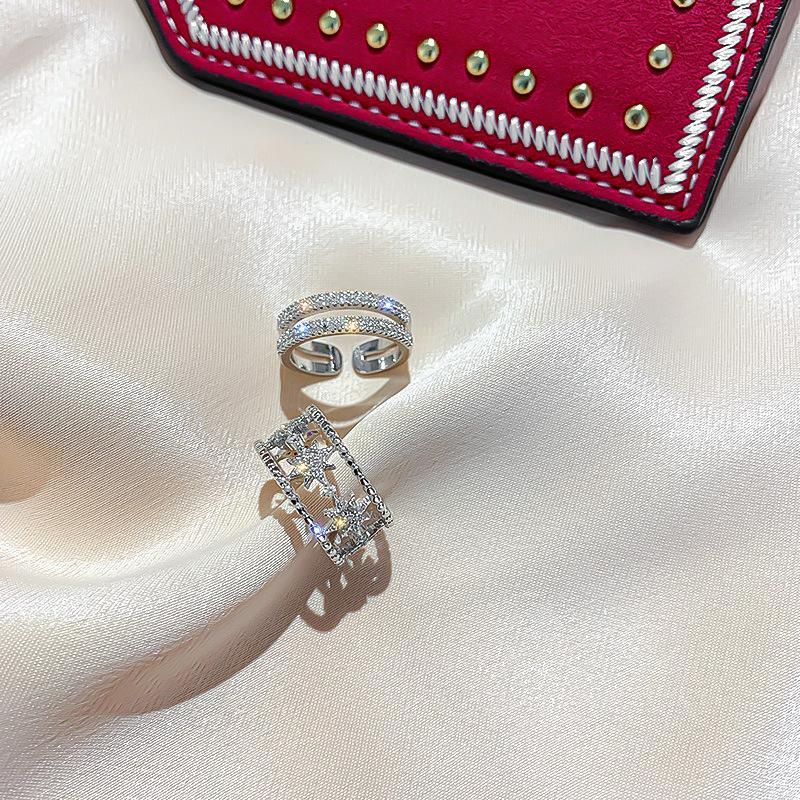 Anillos banda de anillo de boda Novia mujeres circón anillos INS sencillo anillo de las señoras del estilo de la personalidad la manera del partido