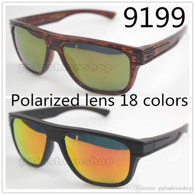 Lunettes de soleil polarisées de haute qualité pour hommes, modèle 9199, marque TR90, montures de soleil avec boîte libre 18 couleurs