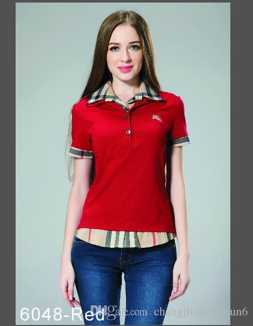الصيف مصمم تي شيرت الرجال قميص طية صدر السترة قصيرة الأكمام مطرزة تي شيرت ملابس رجالية العلامة التجارية قصيرة الأكمام تي شيرت قميص المرأة S-2XL