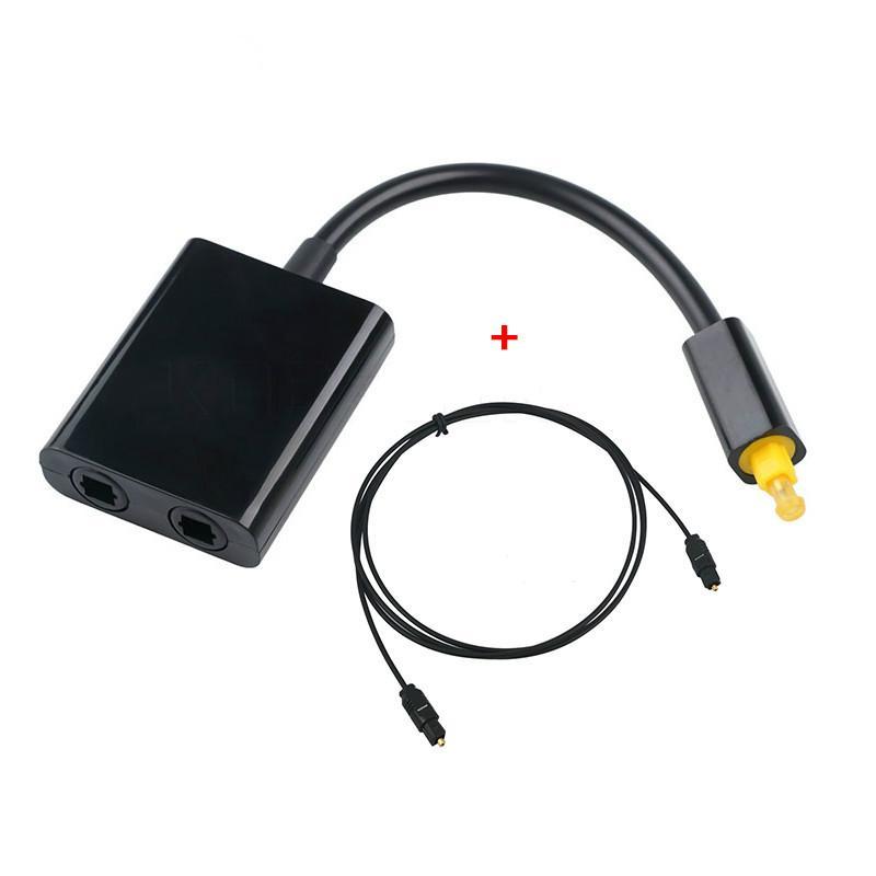 Fibra ottica 1M Digital Toslink cavo maschio a maschio con audio da 1 a 2 femminile dell'adattatore del divisore For Power Amplifier
