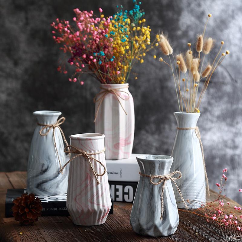 Origami Ceramic Vases Tabletop flower Vase Home Decoration vase Fashion Modern european style Flower Household Decoration