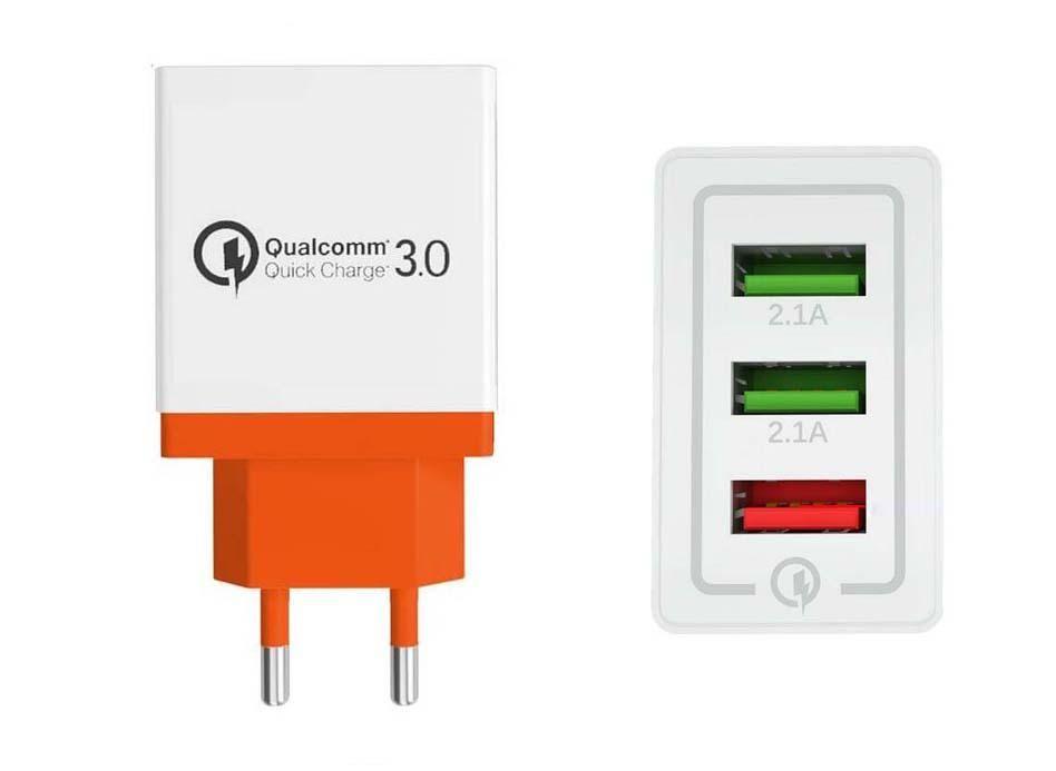 USB Şarj için Iphone Şarj Qc 3,0 Quick Charge Hızlı Hızlı Iphone Samsung için Şarj 3 USB bağlantı noktaları 3.1a Şarj
