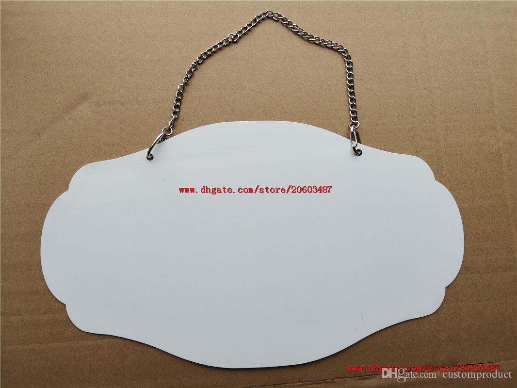 big Promotion sublimation blank metal door hanger hot heart transfer printing diy custom consumables 17*29.5cm