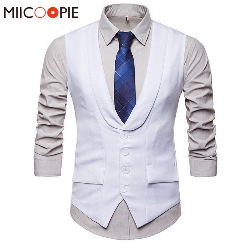 Kleid Westen für Herren formale Hochzeit V-Ausschnitt Einreiher Slim Fit Weste Gilet Männer Vest ärmelGeschäfts Chaleco Hombre