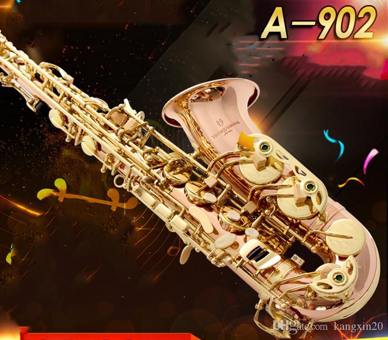 Melhor qualidade novo instrumento música YANAGISAWA A-902 Eb Tune Alto saxofone Phosphorus material super jogar saxprofessional