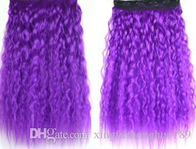 """102 Synthetic Ponytail Long Straight Hair 16""""/22"""" Clip Ponytail Hair Extension Blonde Brown Ombre Hair Tail With Drawstring"""