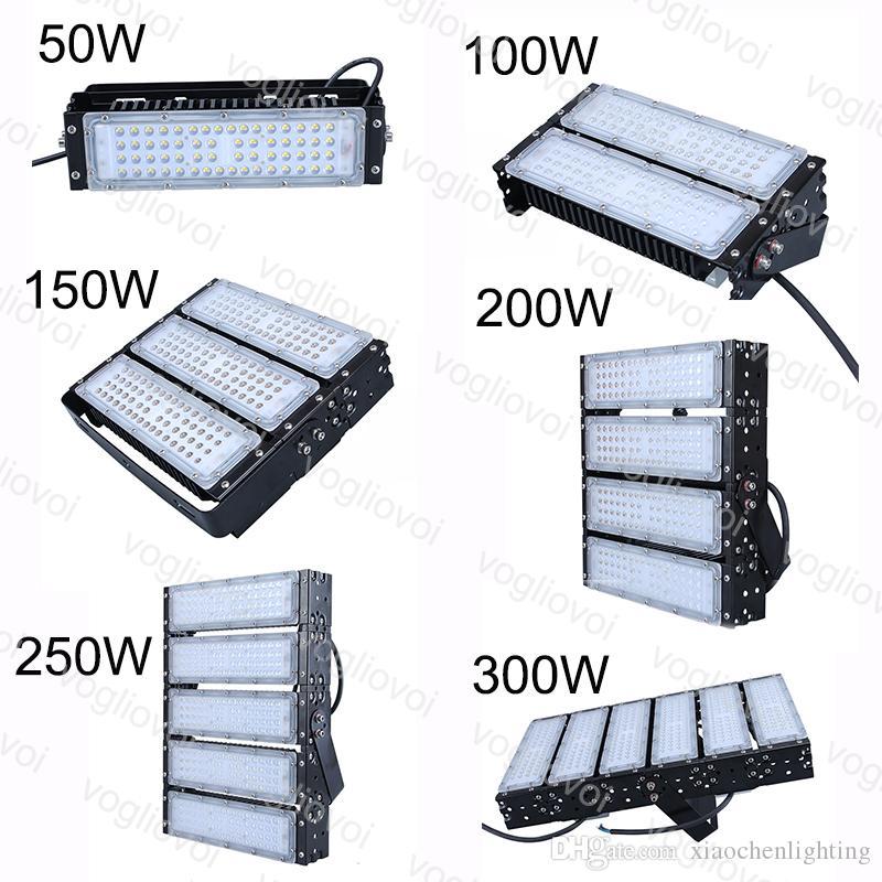 Luzes do túnel 50 100 150 200 250 300W SMD3030 Floodlight Módulo Fin Dissipação de Calor Impermeável IP65 Cool Branco para Projeto Rodoviário