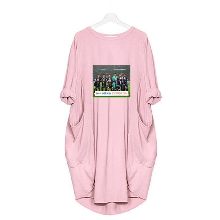 Trendy Uzun Kollu dibe Orta uzunlukta Etek Avrupa Moda Yeni Çin Akaryakıt Baskı Desen Büyük Beden Gevşek Elbise