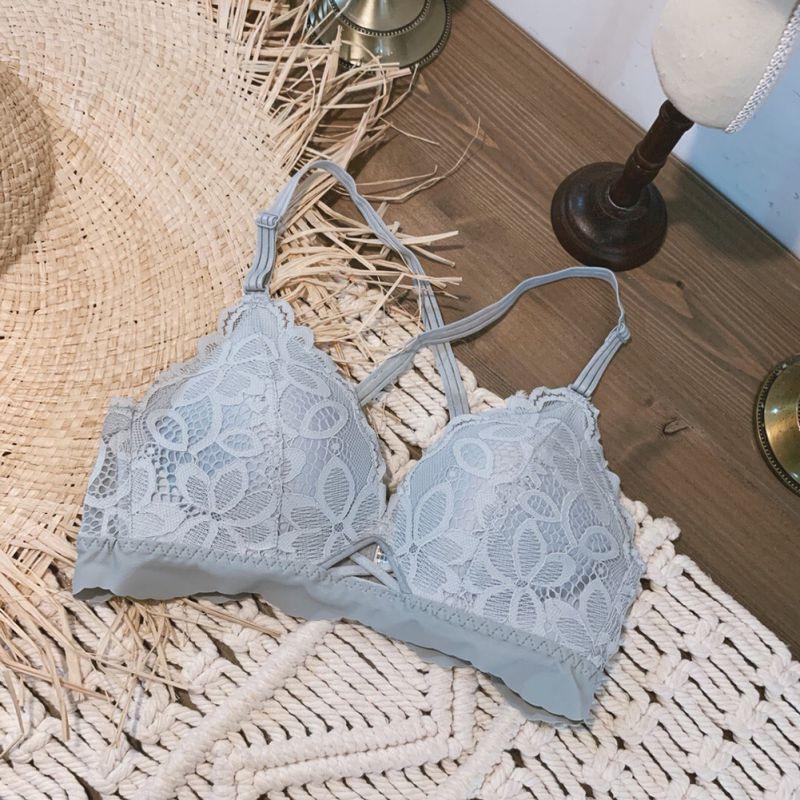 Wholesale-Bra Sets Women Lace Lingeries Set Adjustable Bras Panties Set Wire Free Sexy Lace Push Up Underwear