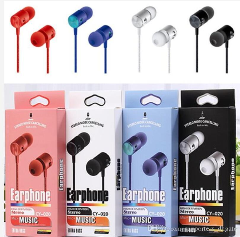 Earphones 3 5mm In Ear Headphones Cy 020 Hands Free Universal Bass Stereo Headset Earbuds Mic With Retail Package For Mobile Phone Free Dhl Cell Phone Earphone Cell Phone Headphone From Supporters Dhgate 1 27
