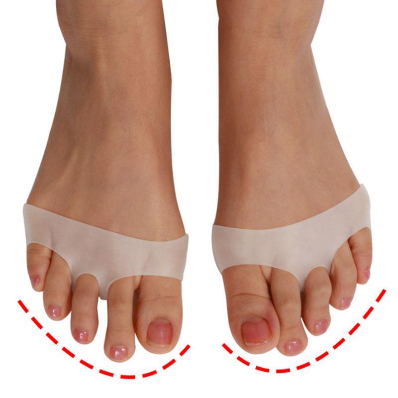 1Pair Silikon-weiche Pads High Heel-Schuhe rutschfeste Protect Schmerzlinderung Fußpflege Vorfuß Halb Yard Unsichtbare Gel-Einlegesohlen