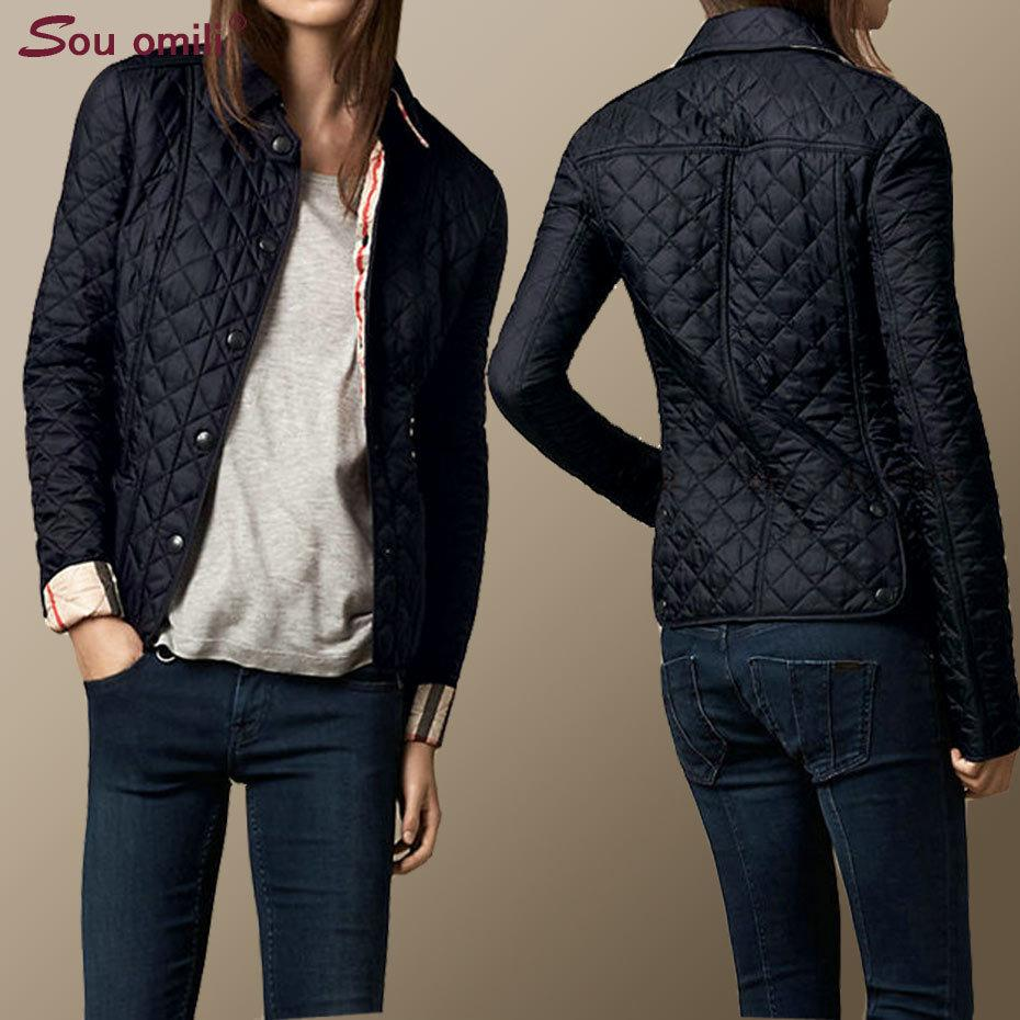 Quilted Cotton-padded Jacket Women Black Lozenge Winter Jacket Plus size Coat femininas chaqueta Pockets Outerwear Y200101