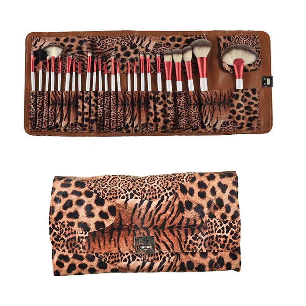 NEW Makeup Brush Set Leopard Bag 24 pcs Professional Brushes Kit Foundation Brush Make up Set face cosmetics Brush Eye shadow Blush brushes