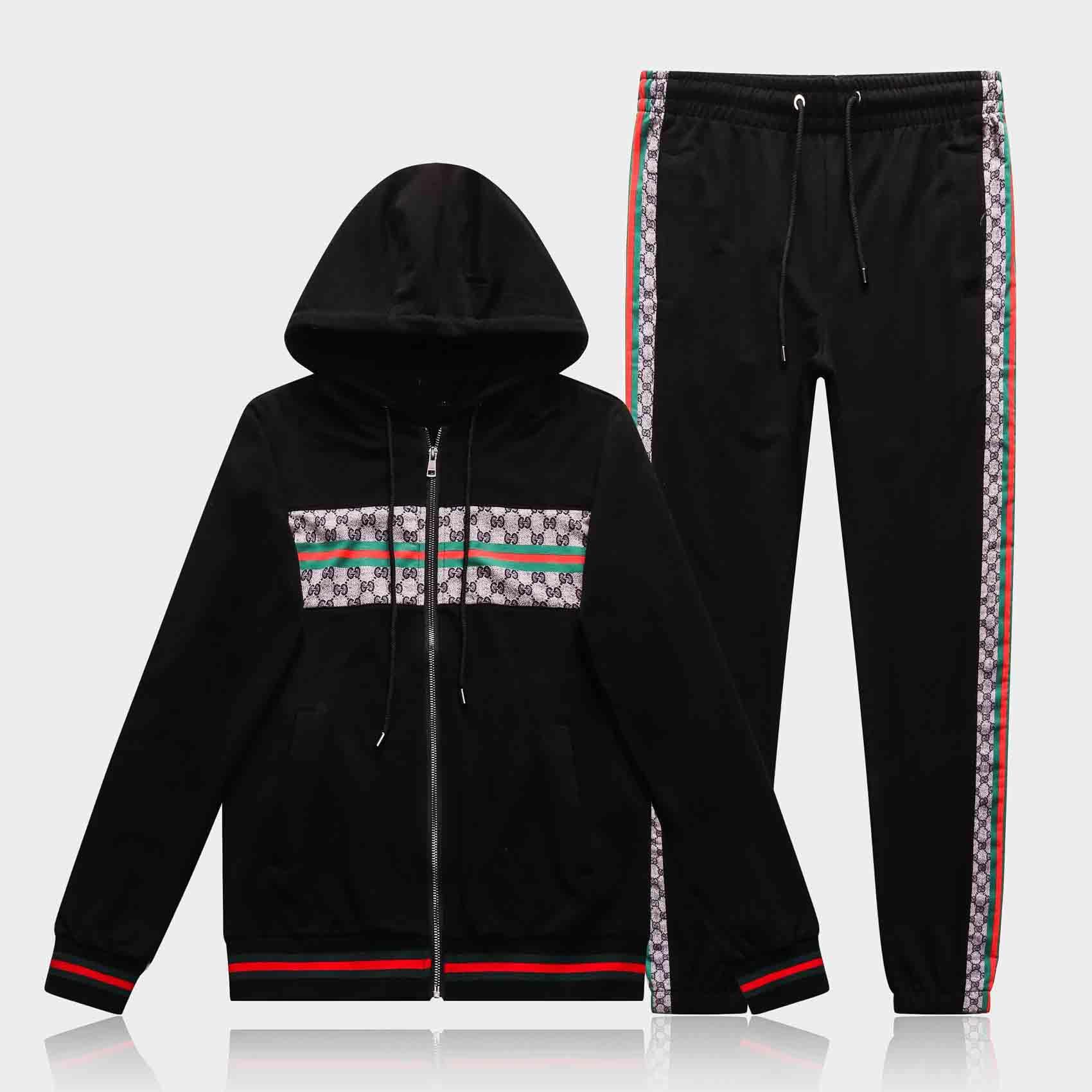 2020New 꼰 편지 남성 스웨터는 정장 조깅 정장 디자인 패션 남성 운동복 재킷 스포츠웨어 세트 땀