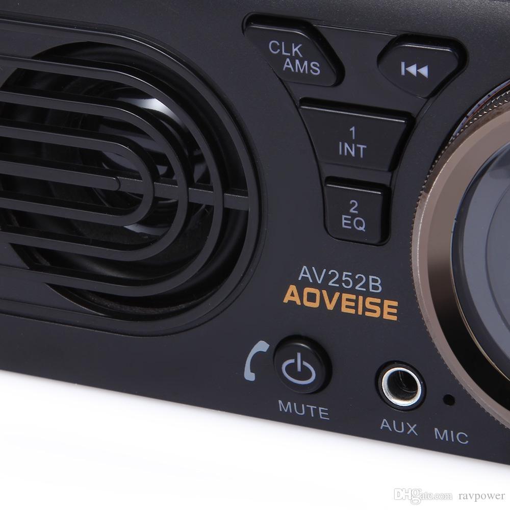AV252B 12V Bluetooth 2.1 + EDR Vehicle MP3 Audio Player Car Stereo FM Radio with USB / TF Card Port