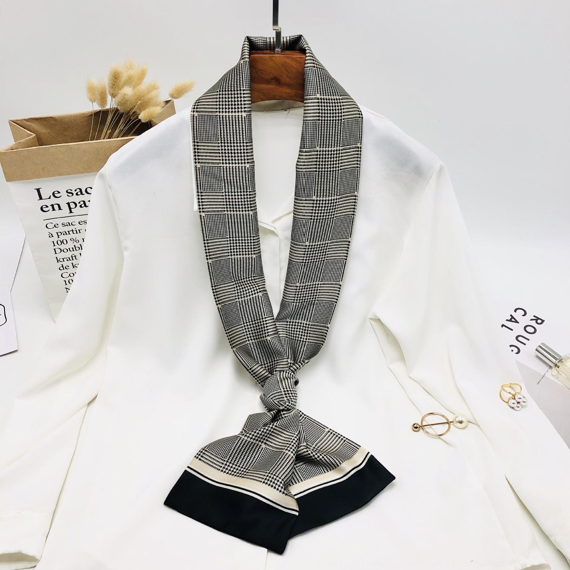 Verano y otoño regalo imitación de regalo protector solar elegante bufanda de seda de la impresión urbana a largo pañuelo de seda