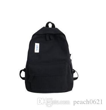 Fashion Women Backpack For School Teenagers Black School Bag Female Bookbag Mochila Girl Canvas Backpack School Bag