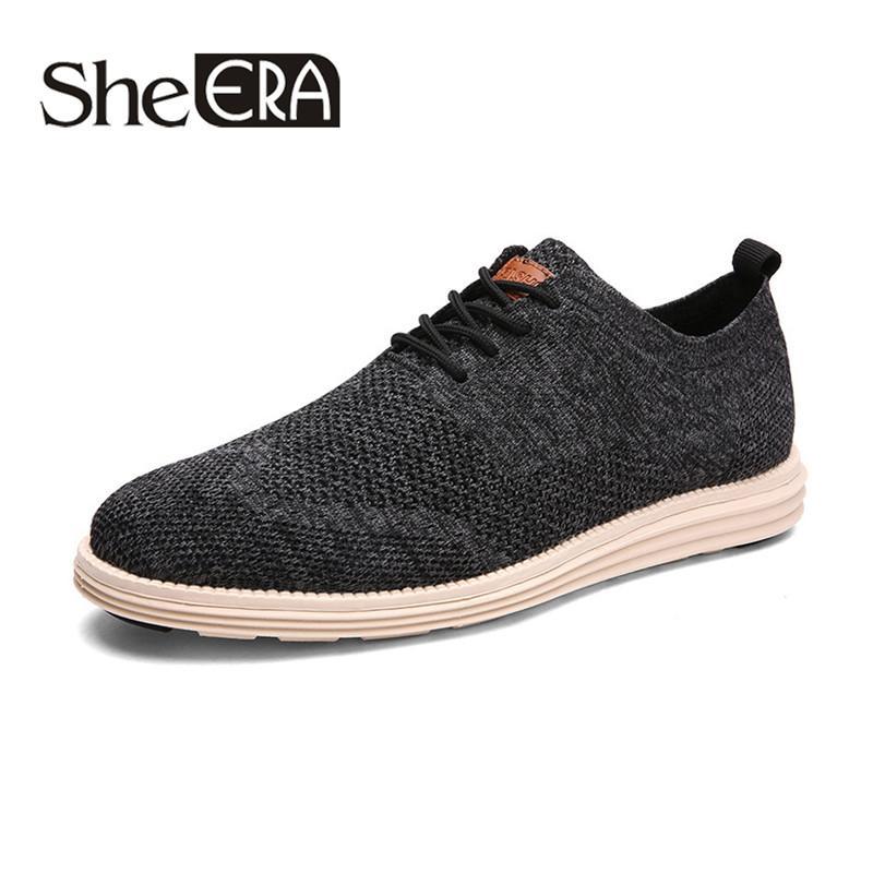 2019 Nuevos hombres zapatos casuales de negocios rápidamente se secan los zapatos formales del partido de moda transpirable oxfords con cordones de malla primavera masculina