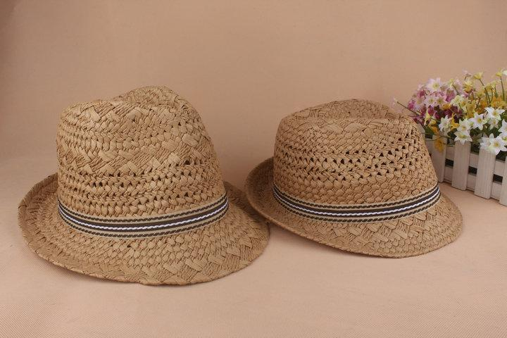 efb6496d ... Jazz Straw Hat Crochet British Style Men's And Women's Small Hats With Frilly  Lovers Hats
