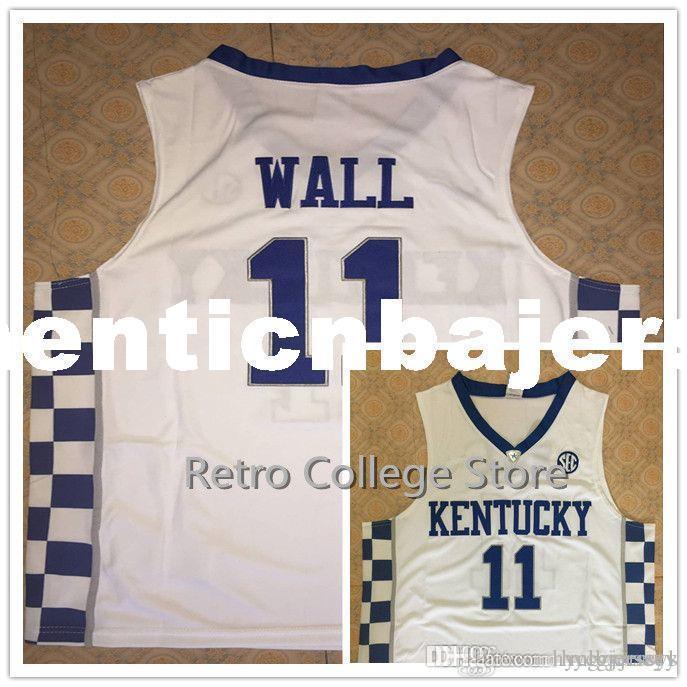 Haute Qualité 11 John Wall 12 Karl Anthony Towns KENTUCKY WILDCATS Basketball Maillots surpiqués personnalisés tout nom et XS-6XL veste Jersey