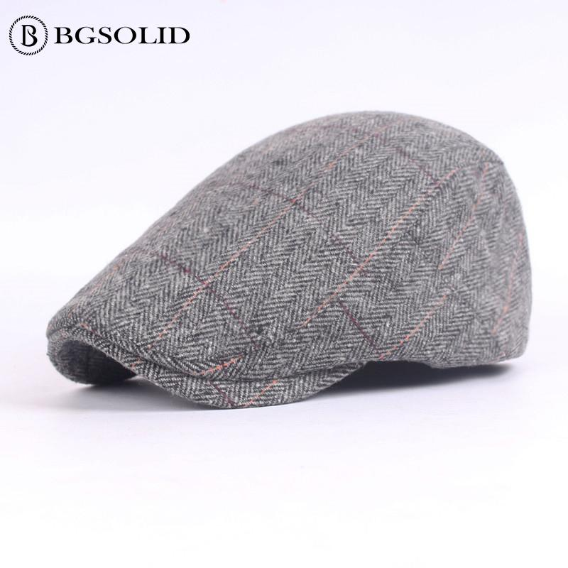 What material cap men beret wholesale autumn and winter in the old hat vintage hats