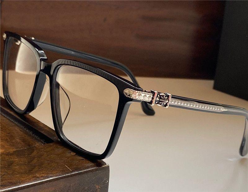 New Vintage optische Gläser Designer 3103 Gläser Steampunk große quadratische Rahmen Stil transparenten Linsen transparent Brillen