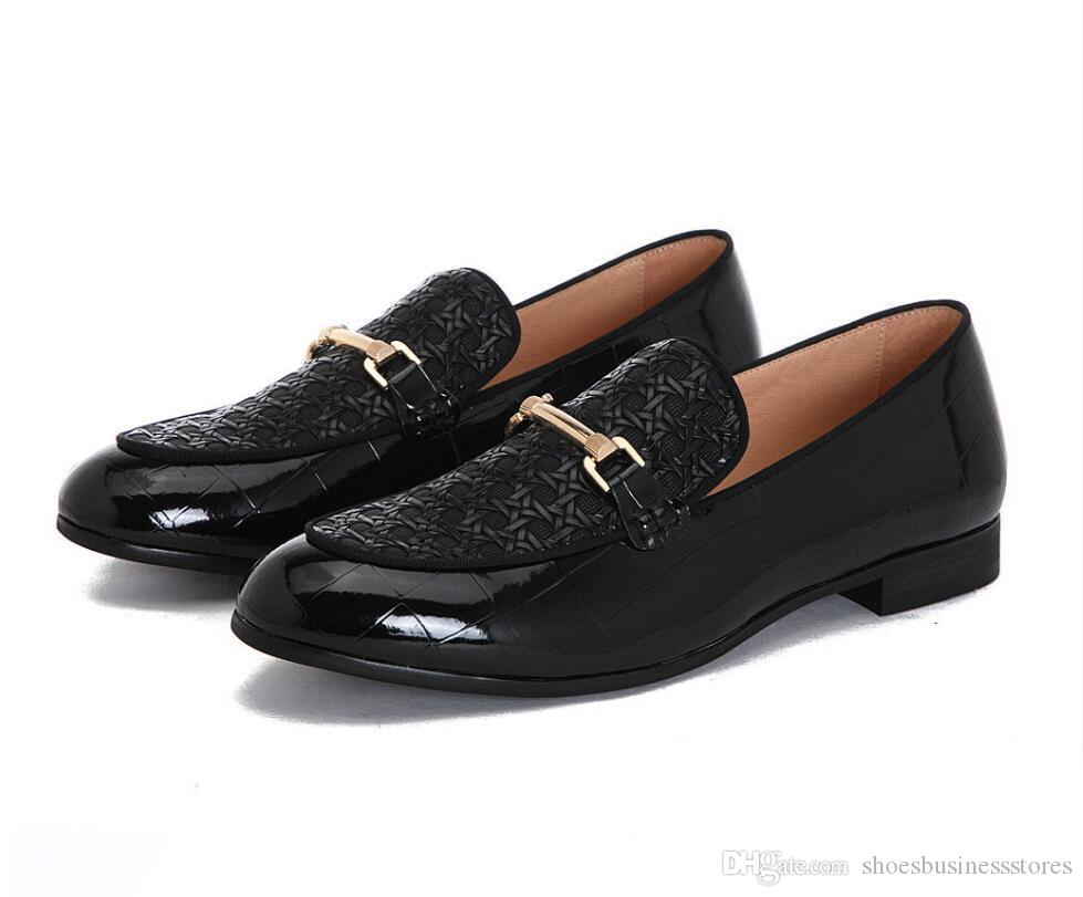 New Italien Art Modedesigner Männer Penny Brautschuhe bequemen Mann-beiläufige Schuh-Qualitäts-Leder-Breathable Mens Classics Loafers