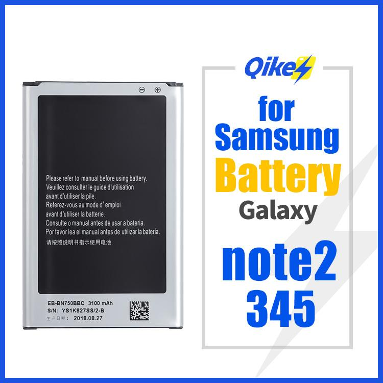 For Samsung Galaxy note 2 note 3 4 5 Battery Mobile Phone Batteries Li-ion Replacement Batteria