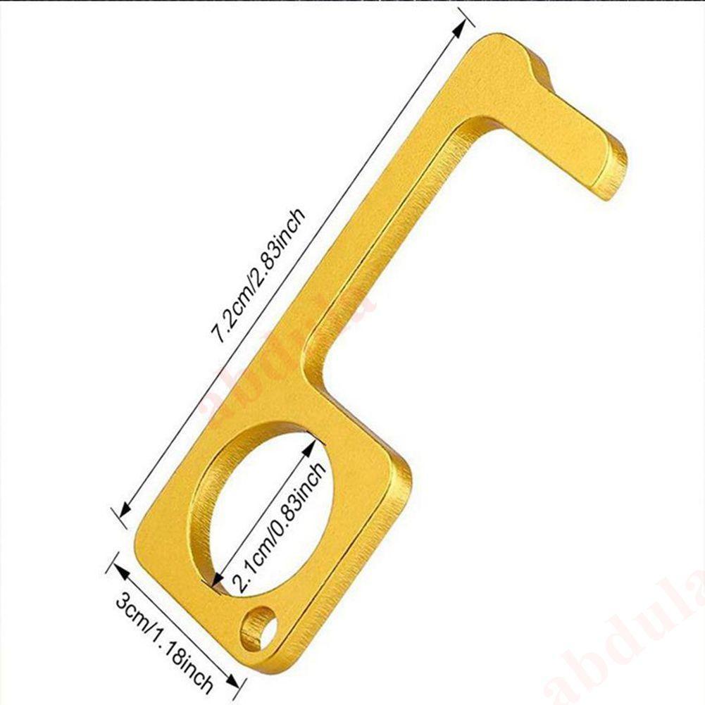 20pcs EDC-Tür-Öffner Türschließer Berührungslos Tür-Öffner-Schlüsselring-Werkzeug Presse Höhenverstelltaste Anti-Kontakt leicht zu reinigen EDC-Schlüsselanhänger