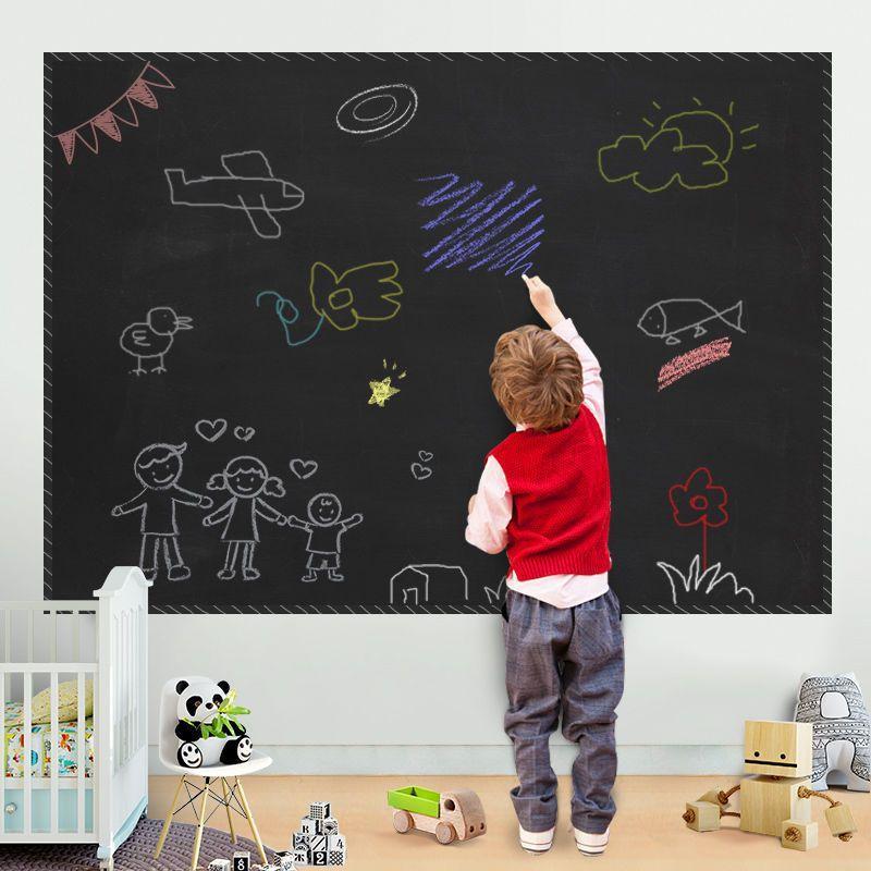 45x200cm إزالة السبورة الفينيل رسم ديكور جدارية الشارات الفن السبورة الجدار ملصق لغرف الأطفال أطفال ملصقات مجلس الطباشير