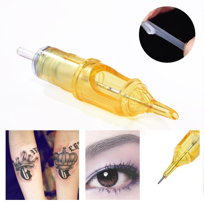 20pcs Permanent Makeup Augenbrauen Hybrid Tätowierung Stift Dreh-Tattoo Maschine Tattoo Nadeln Patronen für 3D Augenbrauen Lippen Eyeliner