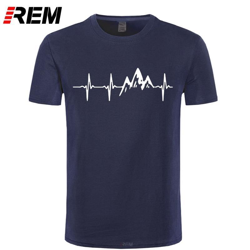 Montanha pulsação shirt T-Engraçado REM Moda 100% algodão manga curta camiseta Causal O pescoço Tops Tees Hip Hop MX200509