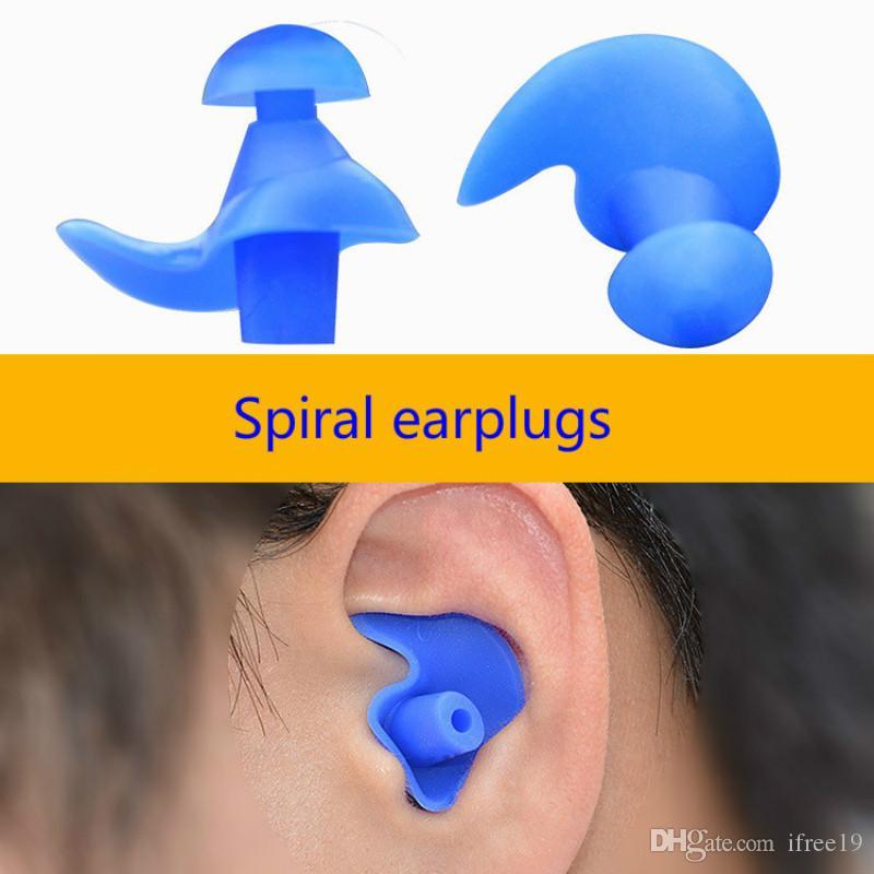 Yetişkin Yüzücüler Çocuklar Dalış Yumuşak Anti-Parazit Kulak Tak Sıcak Su geçirmez kulak tıkacı Yüzme Profesyonel Silikon yüzün Earplug