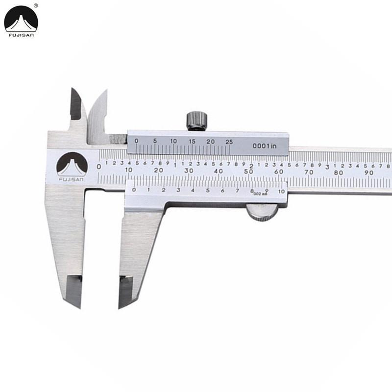 Fujisan штангенциркуль 0-150мм 0.001 дюйма из нержавеющей стали штангенциркули метрические / дюйм микрометр измерительный инструмент T8190619