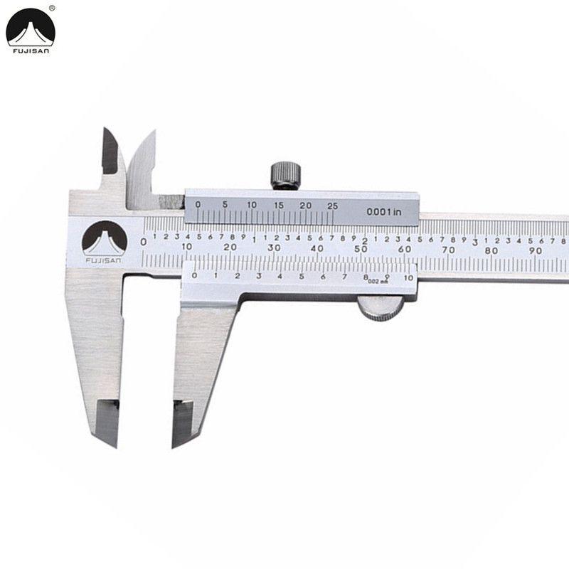 Fujisan Vernier Paquímetro 0-150mm 0.001 polegada de Aço Inoxidável Metric / inch Micrômetro Medidor Ferramenta de Medição T8190619