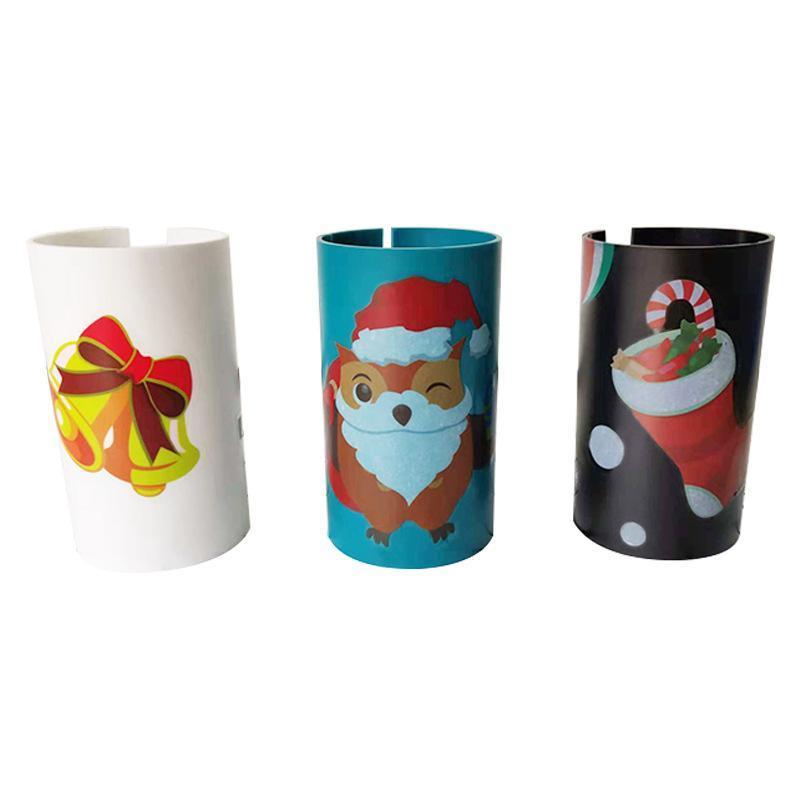 Embalaje de la Navidad del cortador de papel de Santa Claus Papel Cortadores de deslizamiento Herramienta de recorte del rollo de papel cortadores para Navidad Papeles Cut GGA2882