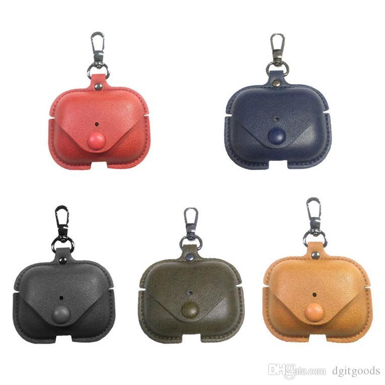 Fone de ouvido protetor para Airpods Pro sem fios Bluetooth Headphone Tampa protetora de couro para o caso AIRPod 3 Gen Com Anti-perdida Buckle DHL