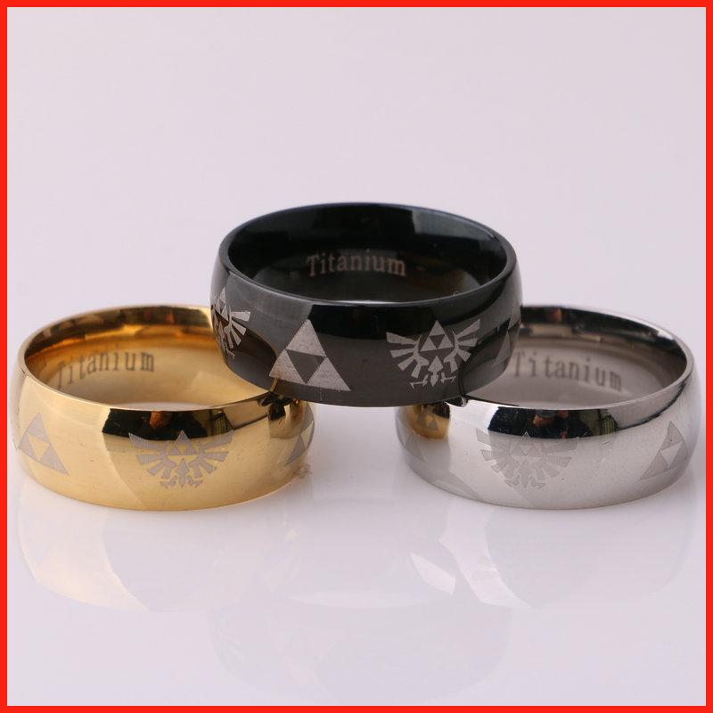 Stainless Steel Legend of Zelda Ring Band Rings nail rings for women men fashion jewelry Christmas gift