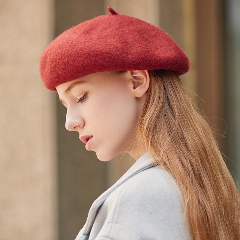 Winter warm Fest Beret Frauen Wollfilz Französisch Lolita Berets Kappen für Frauen, Mädchen, Junge und Mädchen Frühling im Freien Schöne