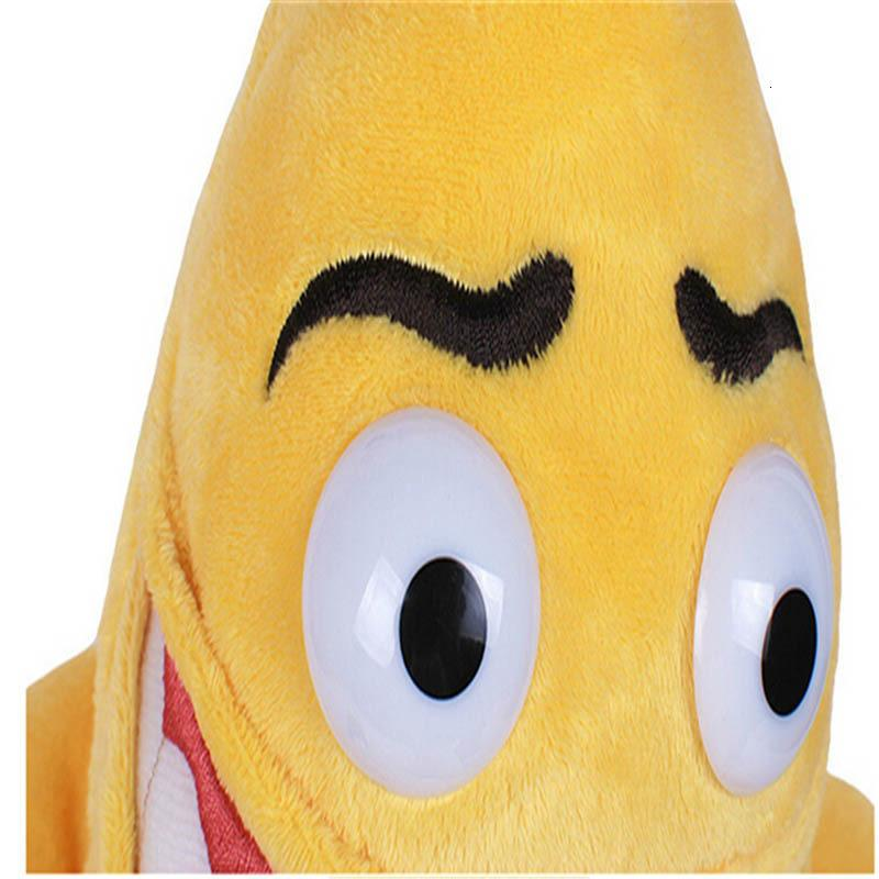 1шт 36см 55см Новый Зла Banana Man Смешной Новизна Unisex Плюшевые игрушки Симпатичные мягкие фрукты Фаршированные куклы Свадьба День Святого Валентина Дети подарков